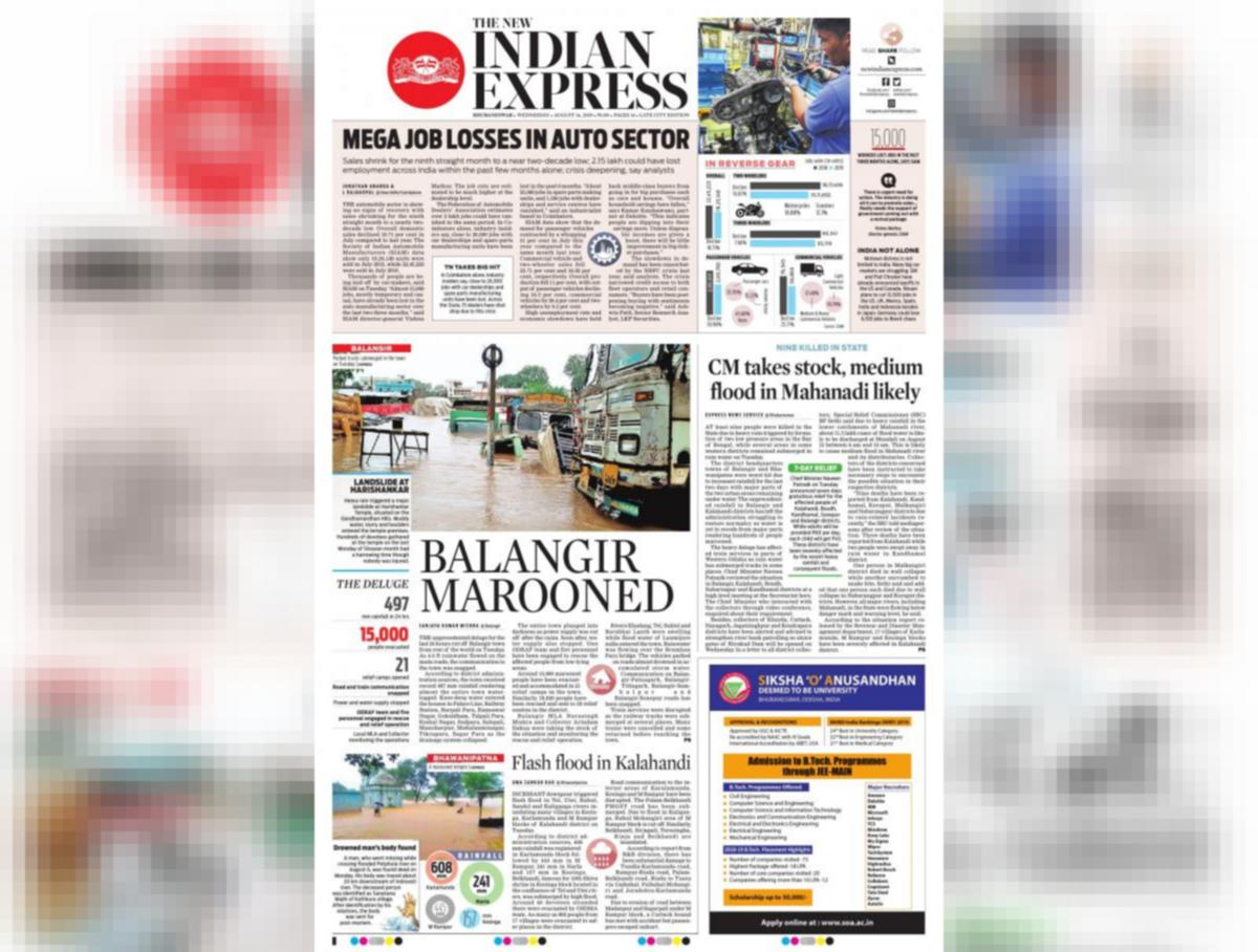 The New Indian Express-Bhubaneswar e-newspaper in English by